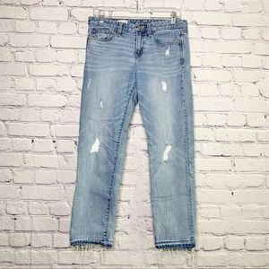Gap Real Straight Distressed Jeans 28 Regular